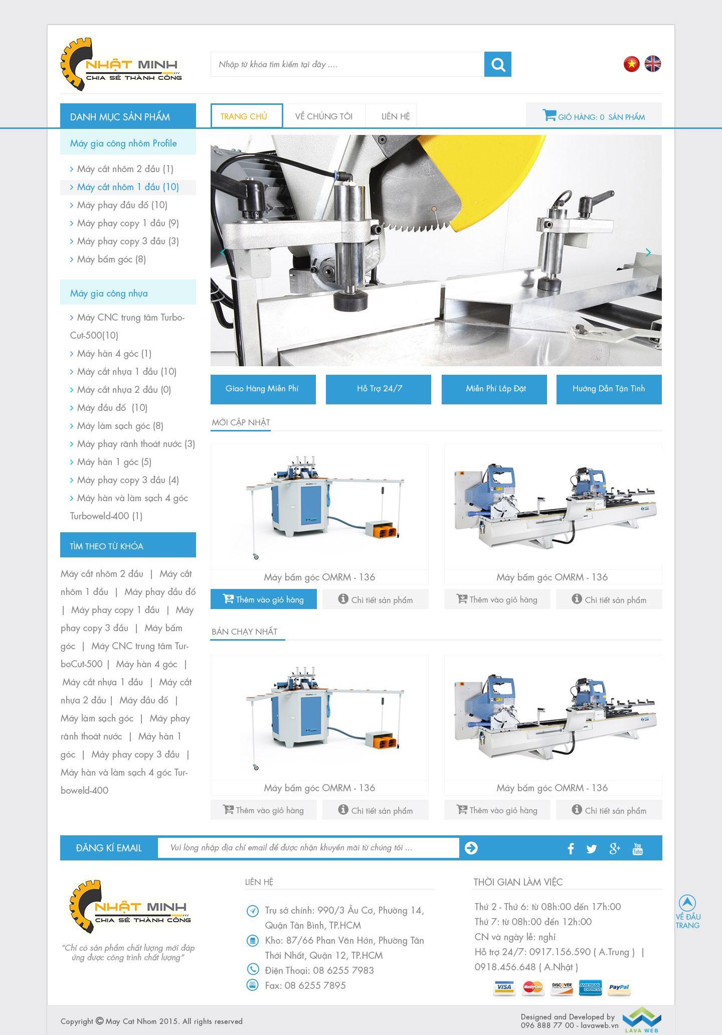 THIET KE WEB MAY MOC NHAT MINH MACHINE