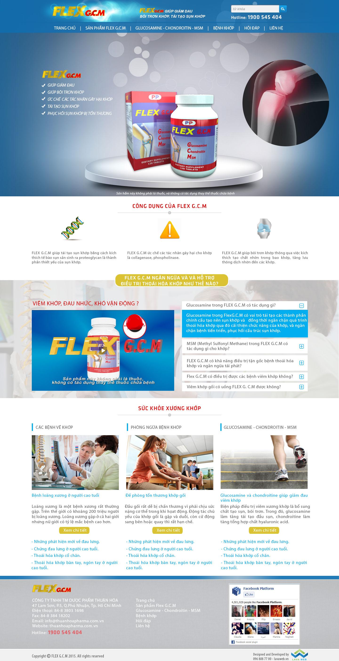 Thiết Kế Web Dược Phẩm FLEX G.C.M