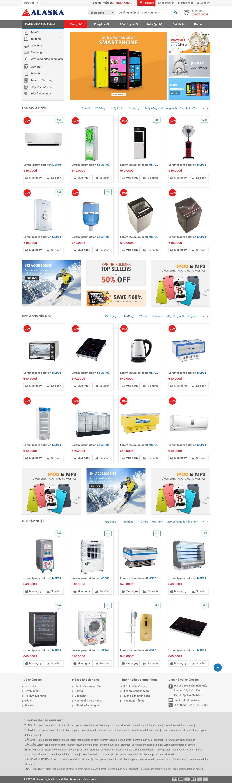 Thiết kế web thương mại điện tử ALASKA