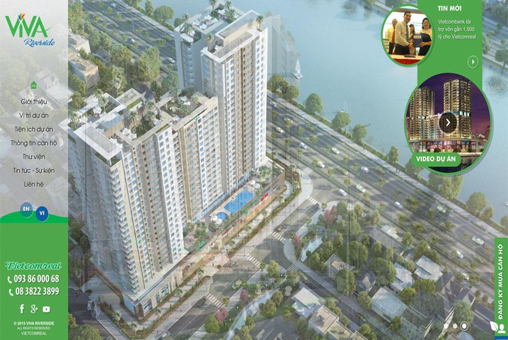 Thiết kế website bất động sản căn hộ vivariverside desktop