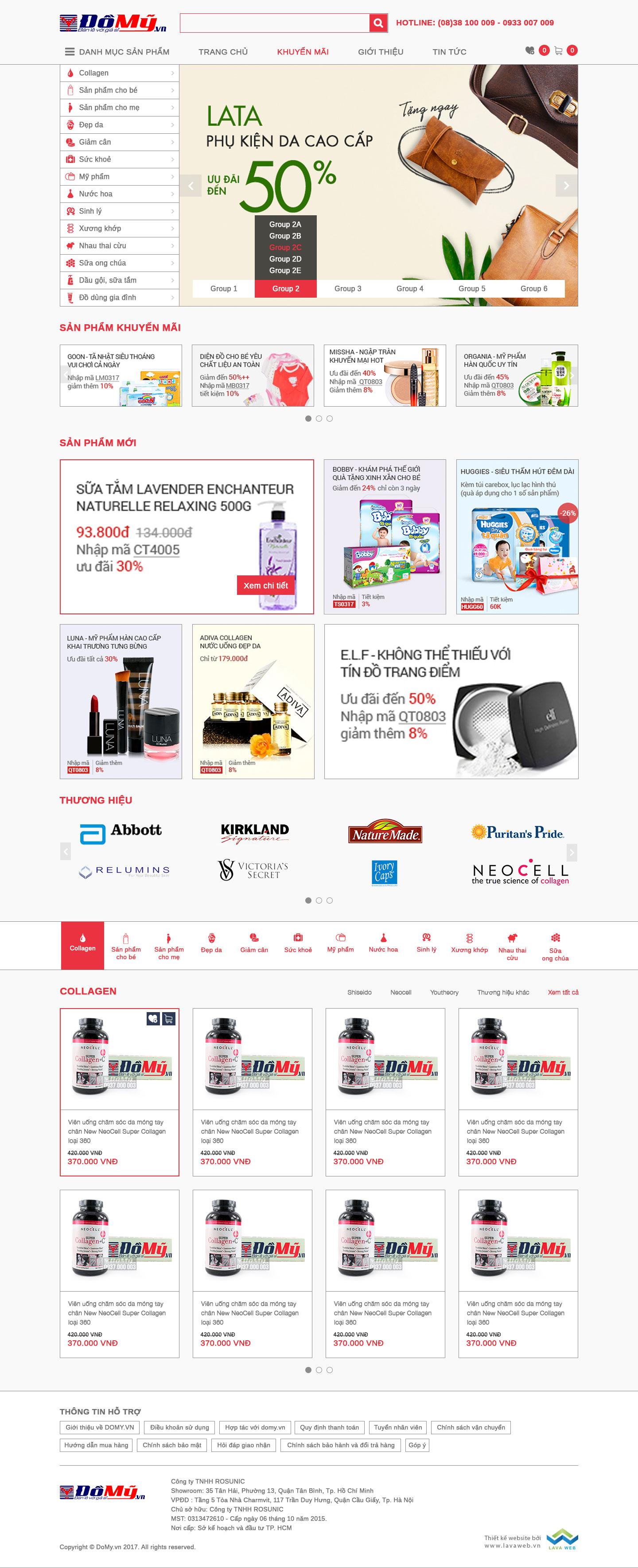 LAVA WEB thiết kế và lập trình web thương mại điện tử Đồ Mỹ