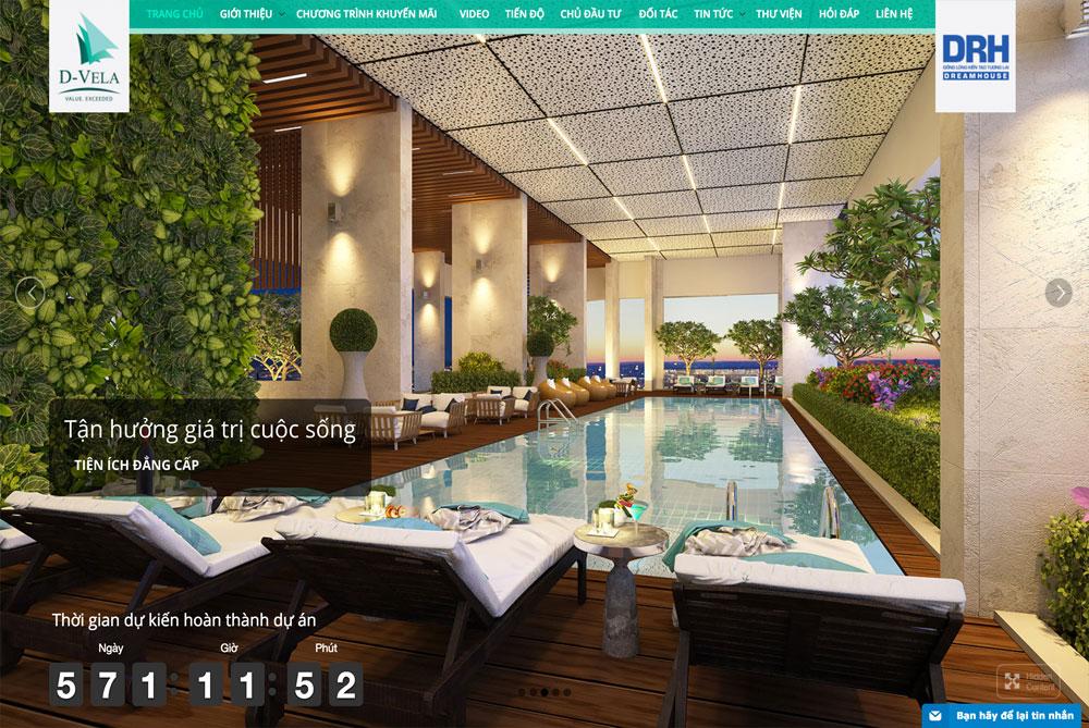 Dự án web căn hộ cao cấp D-VELA desktop