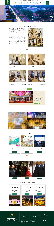 Thiết kế web trung tâm hội nghị nhà hàng tiệc cưới Crystal Palace